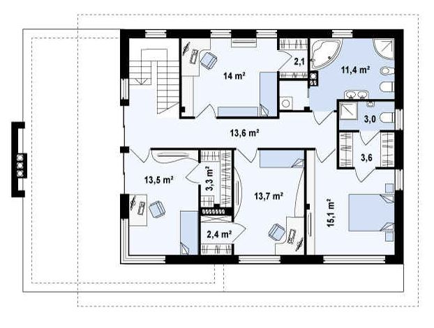 Plano de casa planos de casas modernas for Plantas de oficinas modernas