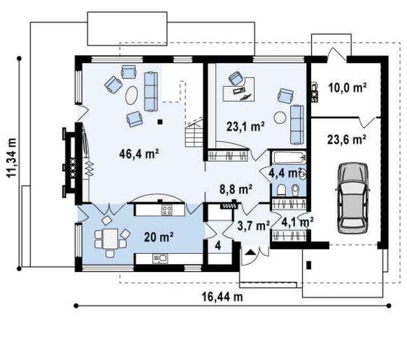 Oficina planos de casas modernas for Planos de oficinas administrativas