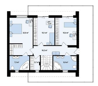 Planos de casas de dos plantas con medidas y fachadas con for Planos de casas con medidas