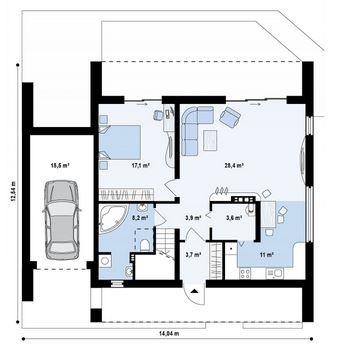 4 dormitorios planos de casas modernas for Planos de casas con medidas