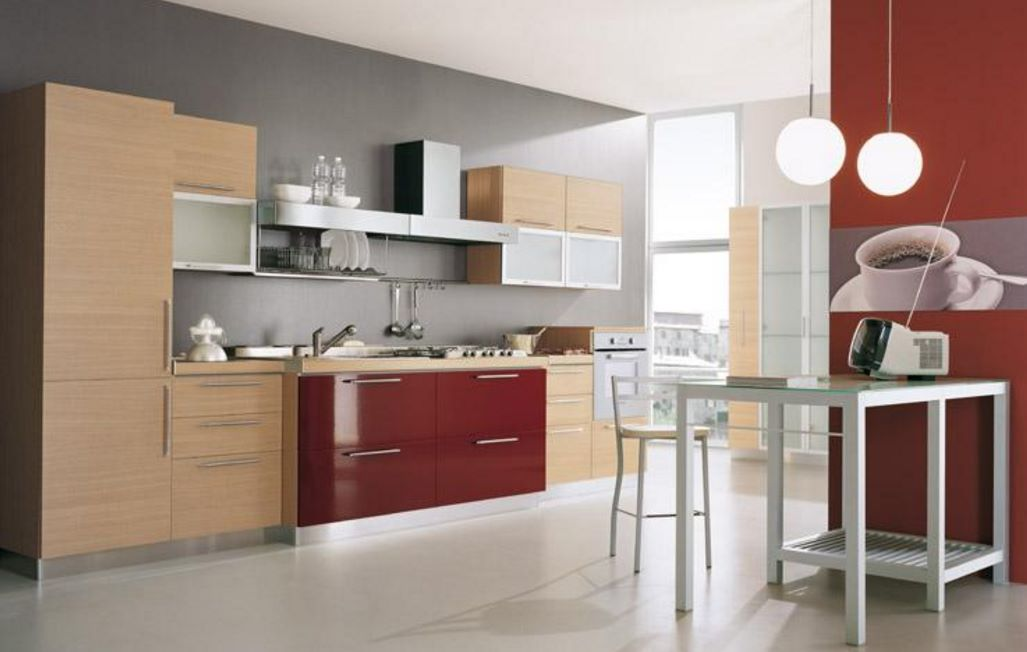 Alacenas para cocinas planos de casas modernas - Colores de pintura para cocinas modernas ...