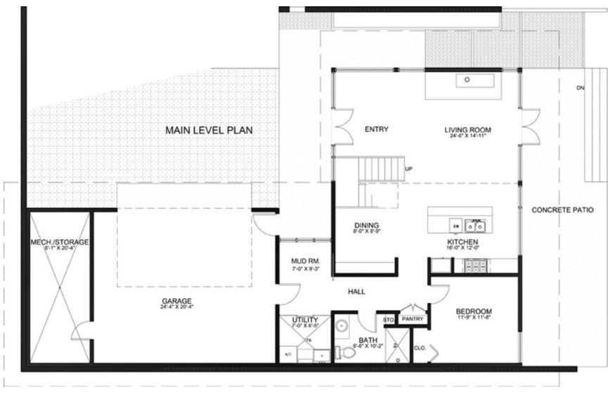 plano de casa conceptual