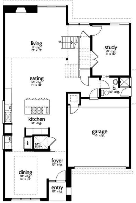 plano de casa minimalista moderna