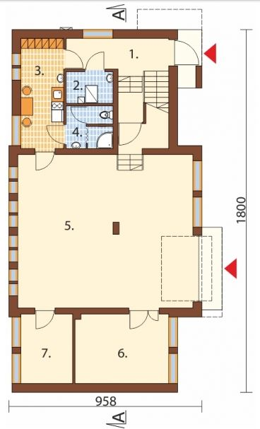 Plano de edificio de oficinas for Planos de oficinas administrativas