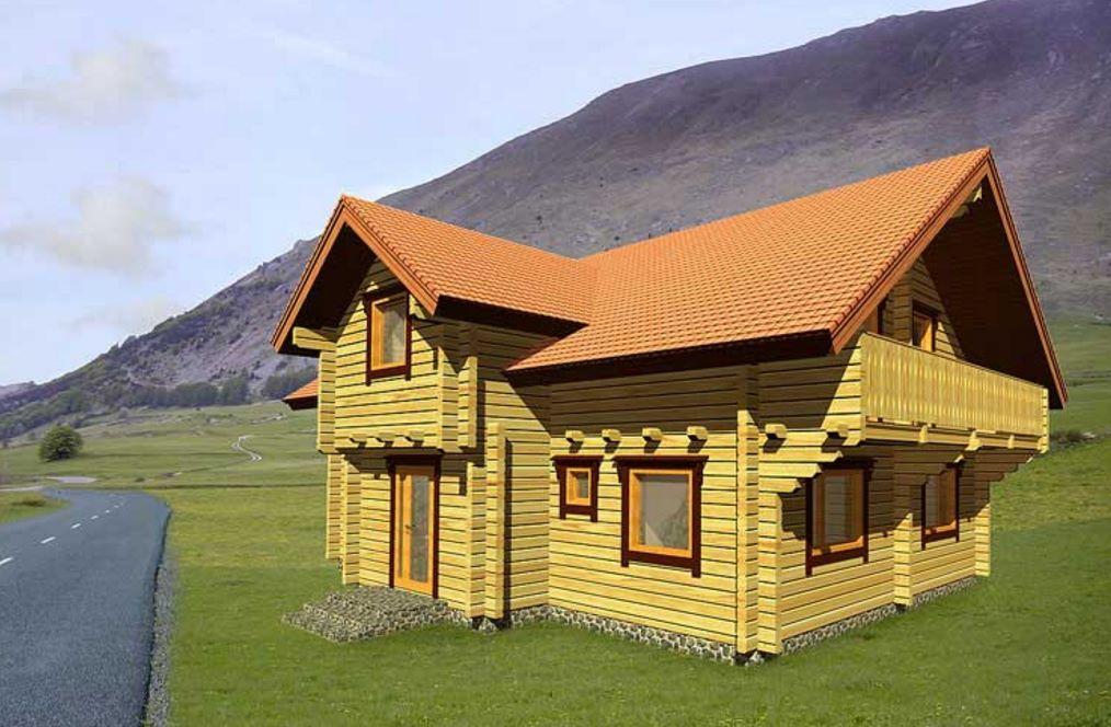 Cabaña de 2 pisos