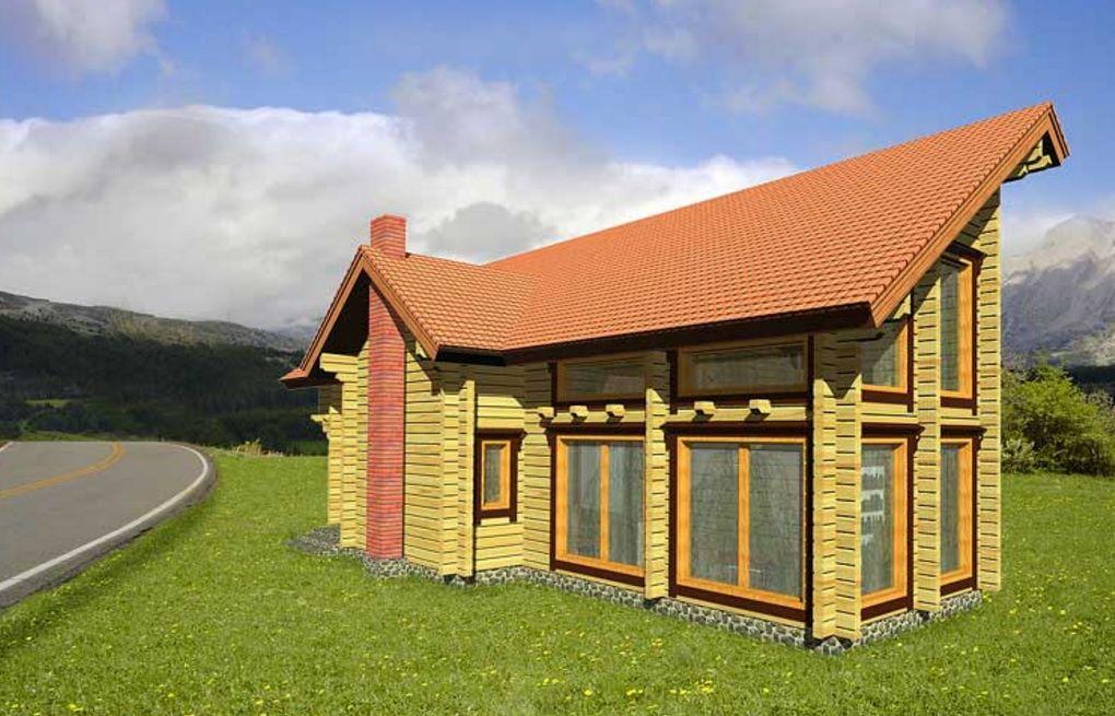 Cabaña de dos pisos con estilo moderno