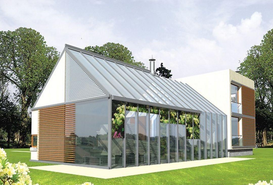 Casa moderna con solárium