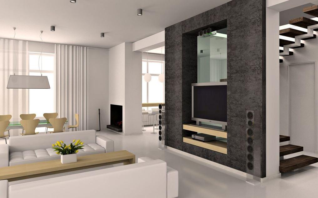 Decoracion de salones minimalistas abiertos