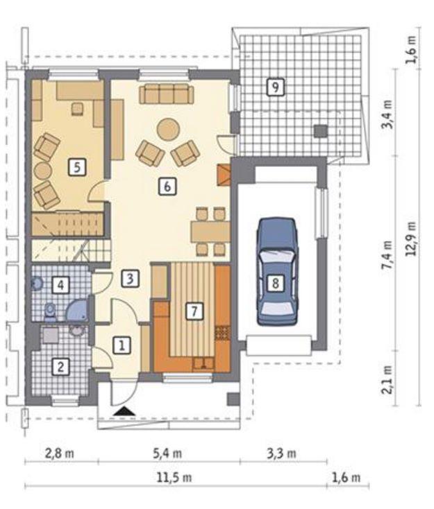 Detalles del plano del duplex