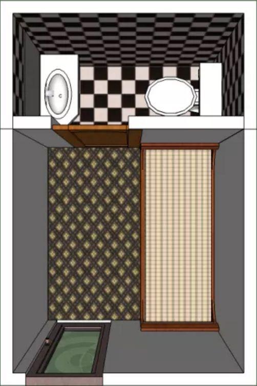 Dormitorio de servicio planos de casas modernas Diseno de una habitacion con bano