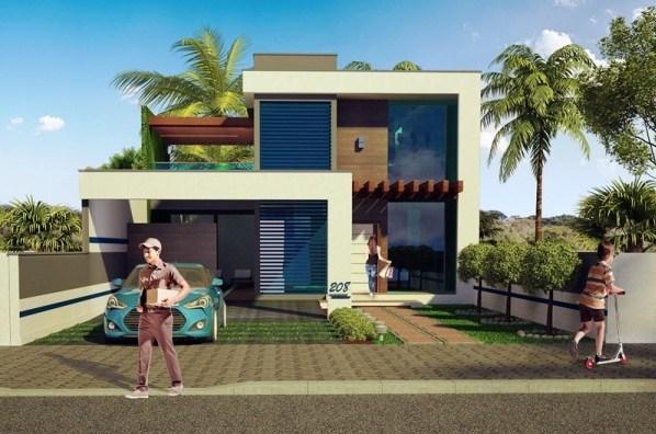 Fachadas de casas con cochera para dos carros