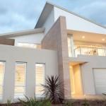 Modelo de casa de dos pisos con terraza