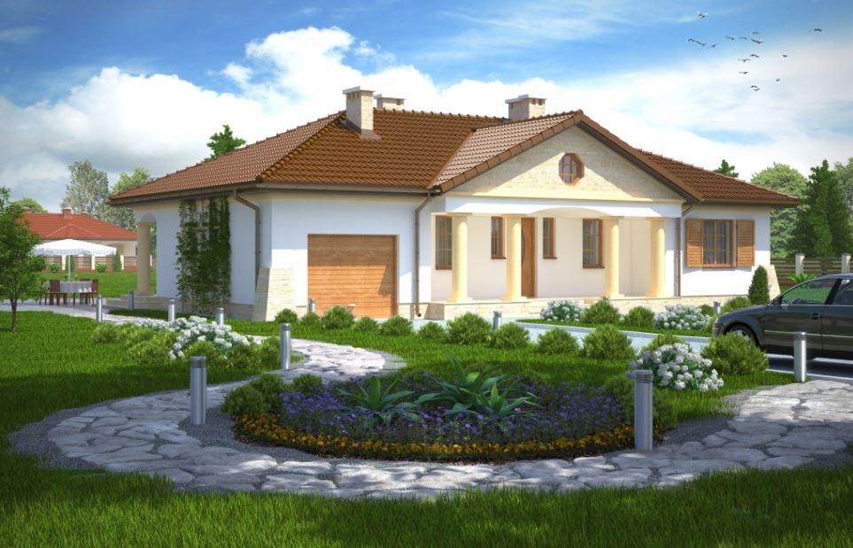 Modelo de casa a lo largo