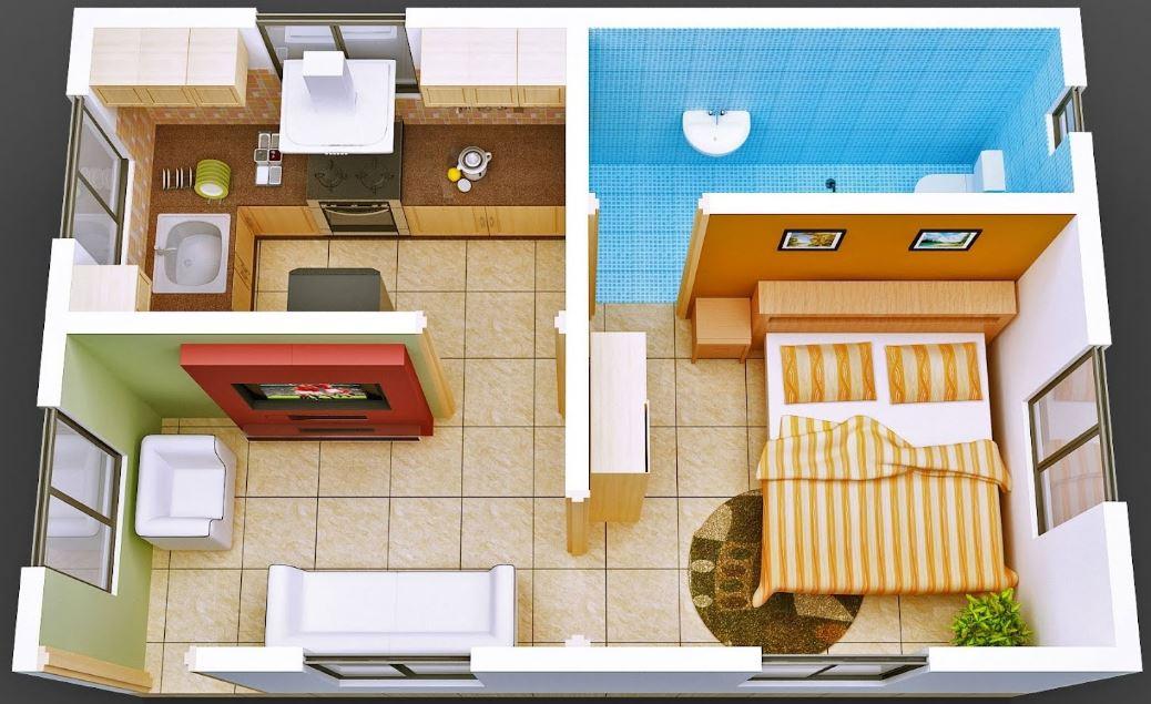 planos de casas pequenas de 20 metros cuadrados