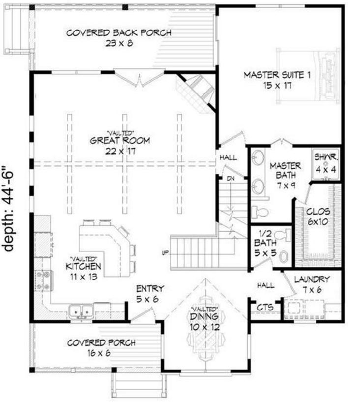 Plano de casa de piedra y madera for Planos de madera