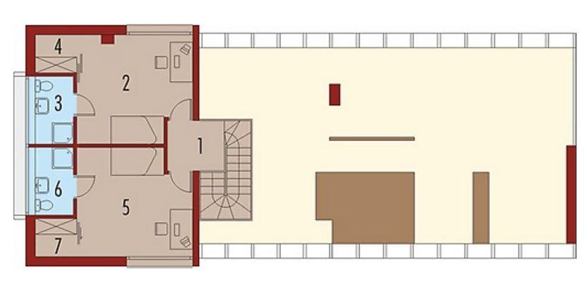 Plano de casa moderna con solárium