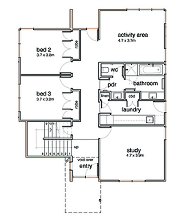 planos de casas modernas de 3 dormitorios pdf