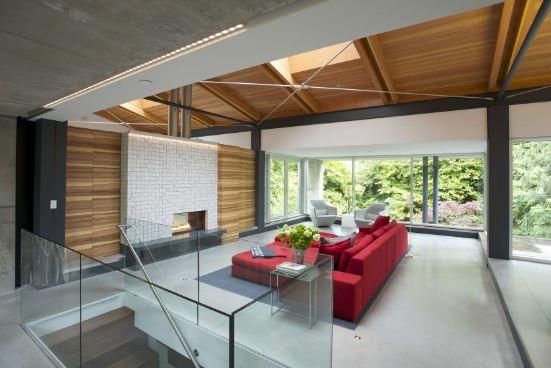 Salones modernos con chimenea electrica