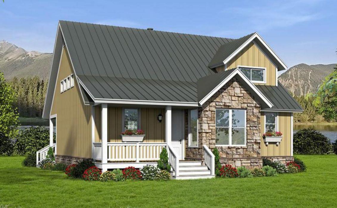 Piedra planos de casas modernas - Casas piedra y madera ...