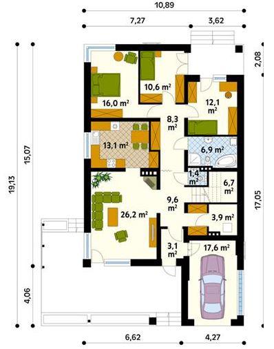 Design dise o de casa 10x15 la mejor galer a de fotos for Diseno de casa de 5 x 10