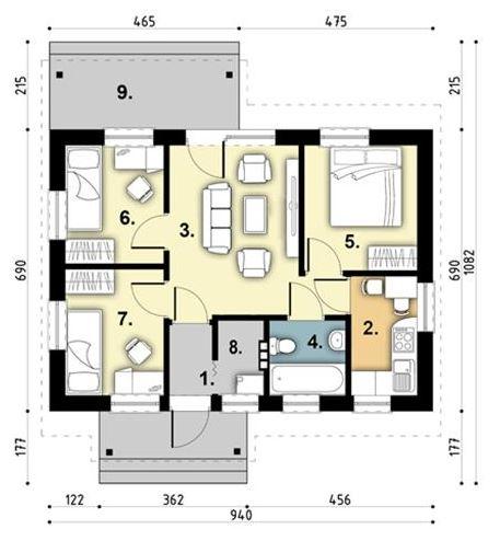 Modelos de casas de 65 metros cuadrados for Modelos de planos de casas