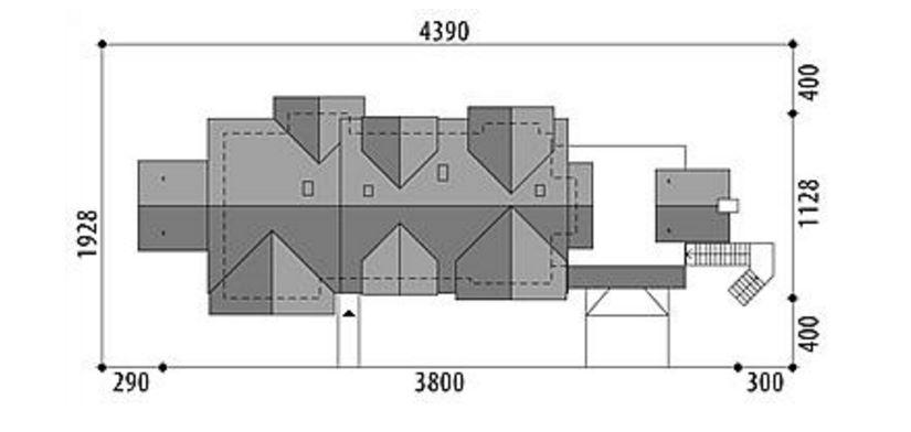 Casa amplia de dos pisos
