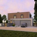 Casa moderna con garaje doble y 240 metros cuadrados