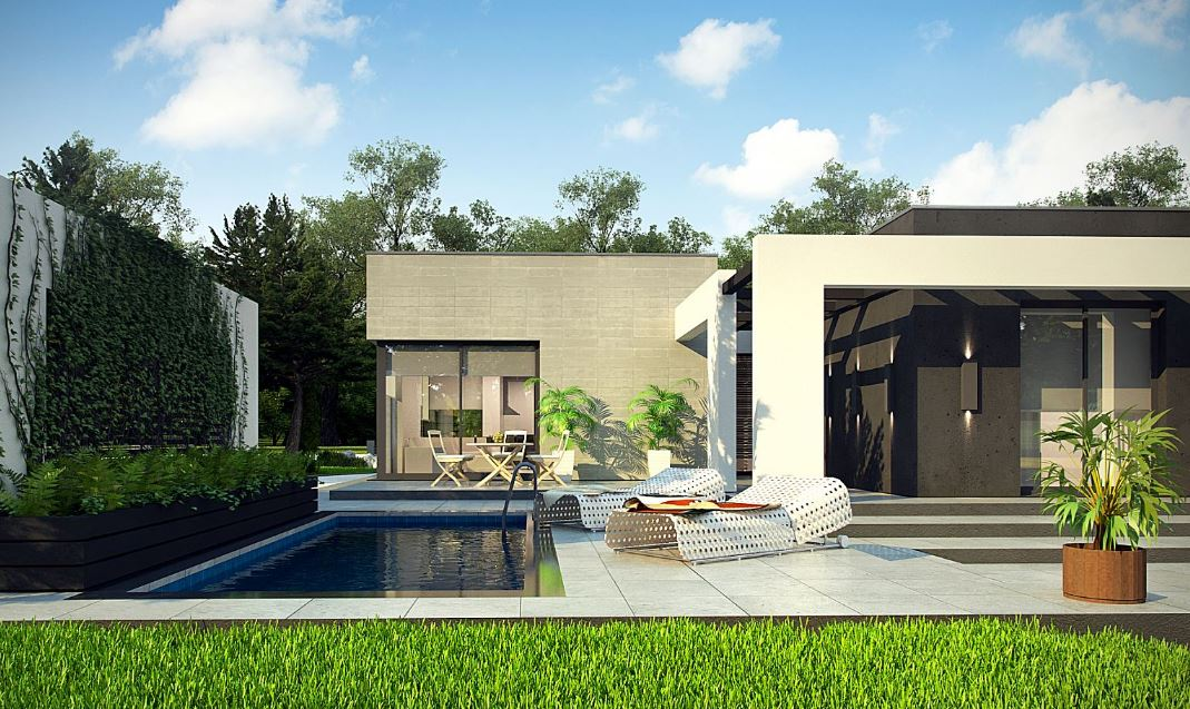 Fachadas de casas modernas una sola planta 35 fachadas for Fachadas de casas de una sola planta