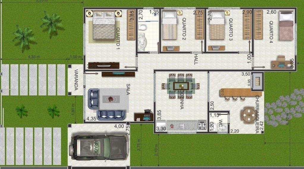 Jardin delantero planos de casas modernas for Casa vivienda jardin pdf
