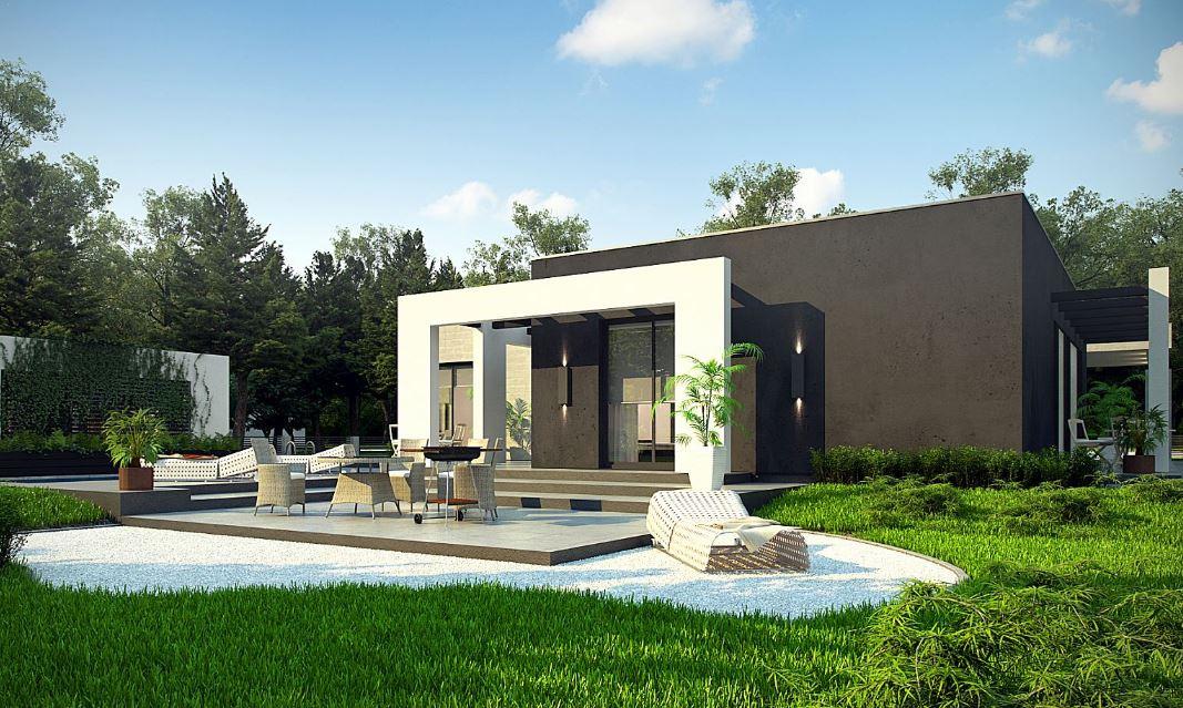 Plano de casa moderna de 3 habitaciones planos de casas for Modelos de residencias modernas