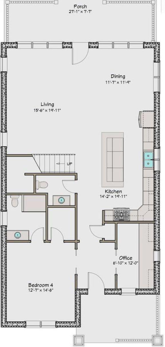 Plano de casa acogedora de 240 metros cuadrados