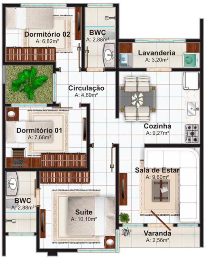 70 metros cuadrados planos de casas modernas