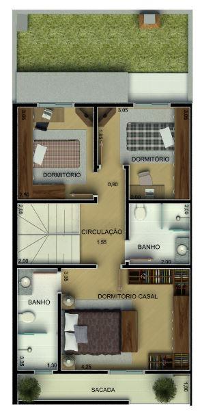 Planos de duplex con medidas