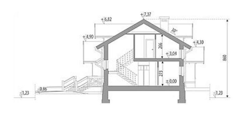 planos de casas de dos pisos con cortes