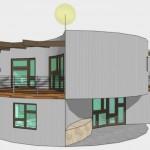 Casa circular de 2 dormitorios