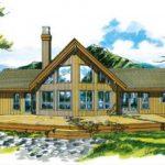 Fachada y planos de casa de 3 dormitorios