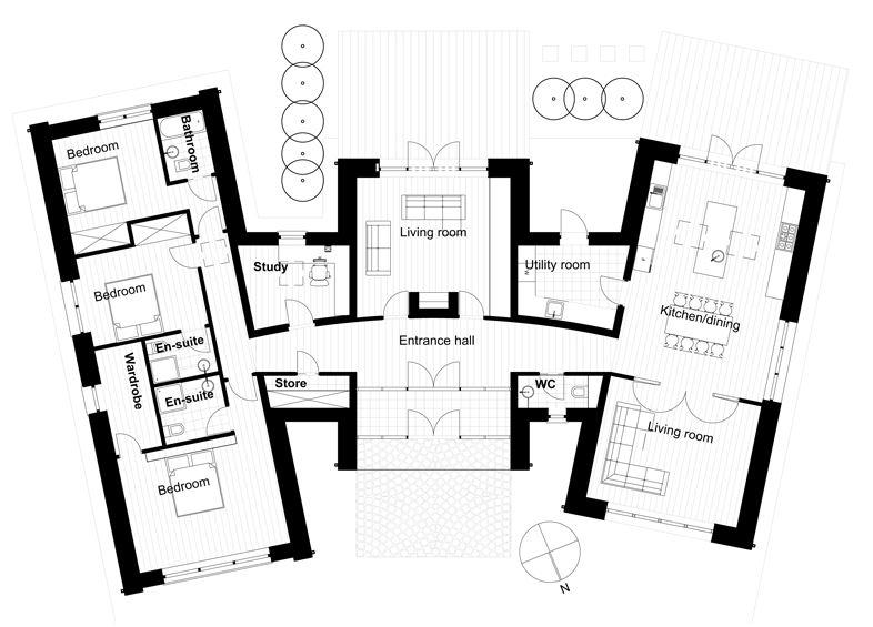 Modelos de casas con formas raras