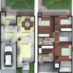 Modelos de casas de 2 pisos con balcon