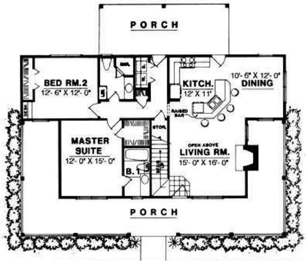 plano-de-casa-con-porche-frontal-en-forma-de-u