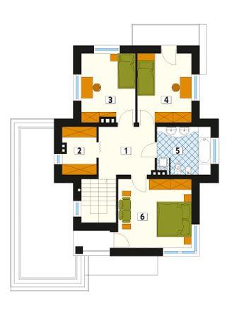 Plano de casa de dos piso 12x14 m