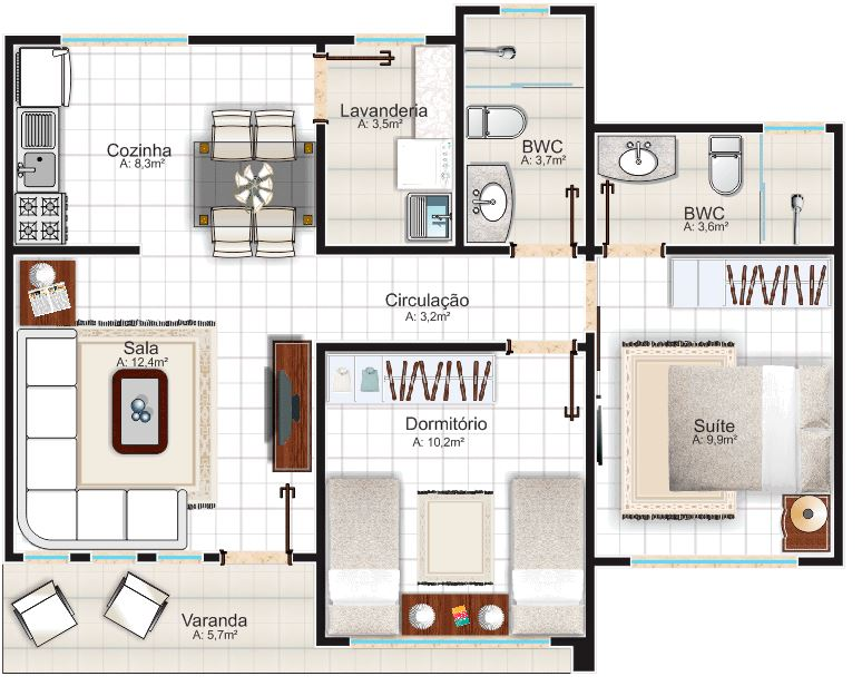 Modelos de casas modernas de un piso planos de casas for Plano casa un piso