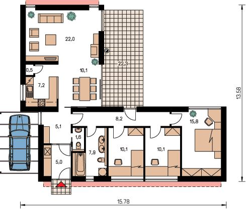 Plano de casa en l con medidas - Fotos de casas en forma de l ...