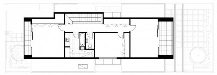Plano de casa pos-modernista