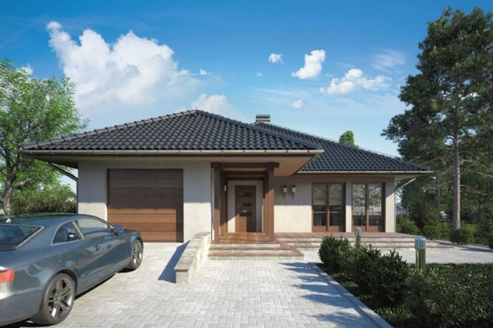 Plano de casa con techo a cuatro aguas planos de casas for Imagenes de techos de casas modernas