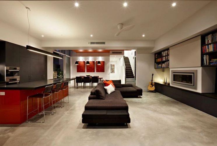 interior de casa modernista