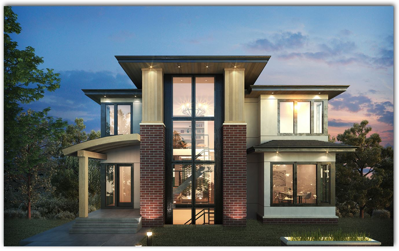 4 dormitorios planos de casas modernas for Modelos de casas de una planta modernas