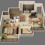 Departamento de dos dormitorios y comedor pequeño