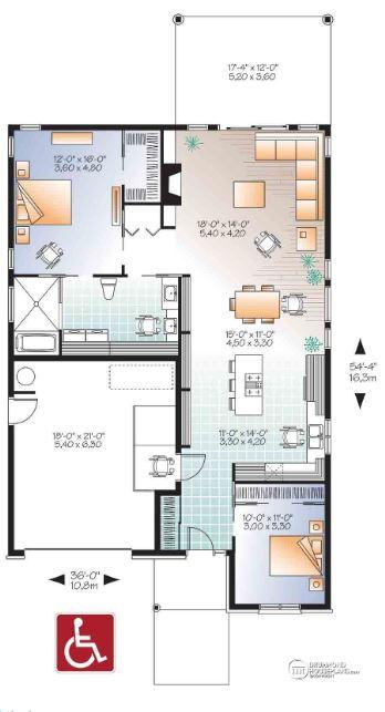 Planos de casas para discapacitados planos de casas modernas for Arquitectura planos y disenos