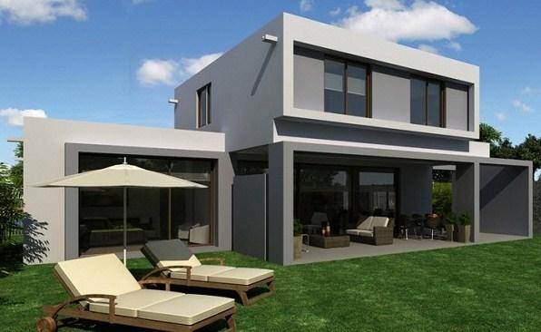 modelo de casa minimalista de dos plantas