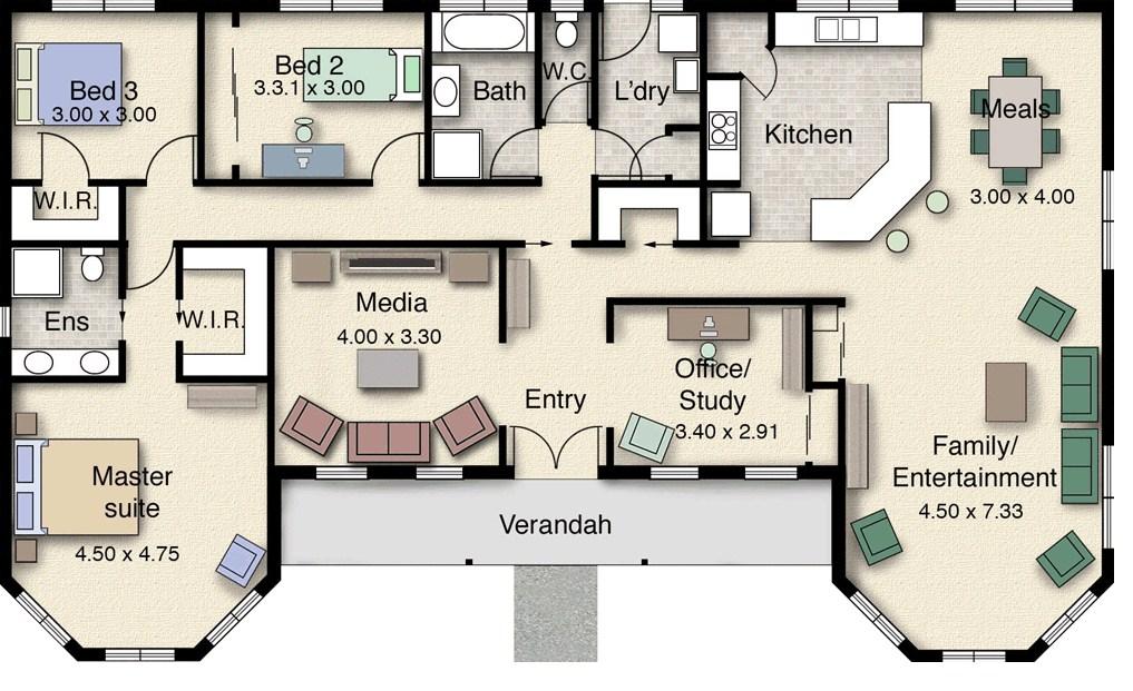 Plano arquitectonico de casa campestre for Que es un plano arquitectonico